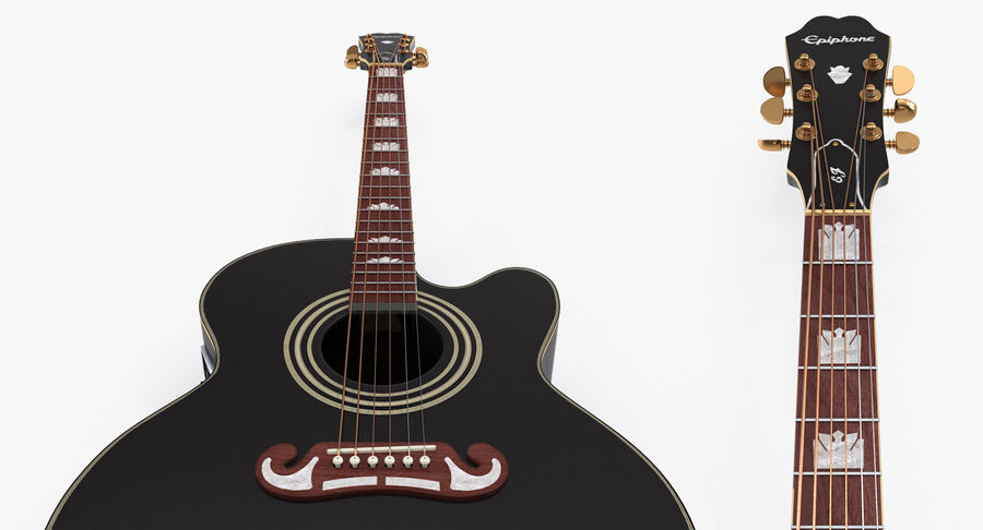 Guitars Collection 2 royalty-free 3d model - Preview no. 7