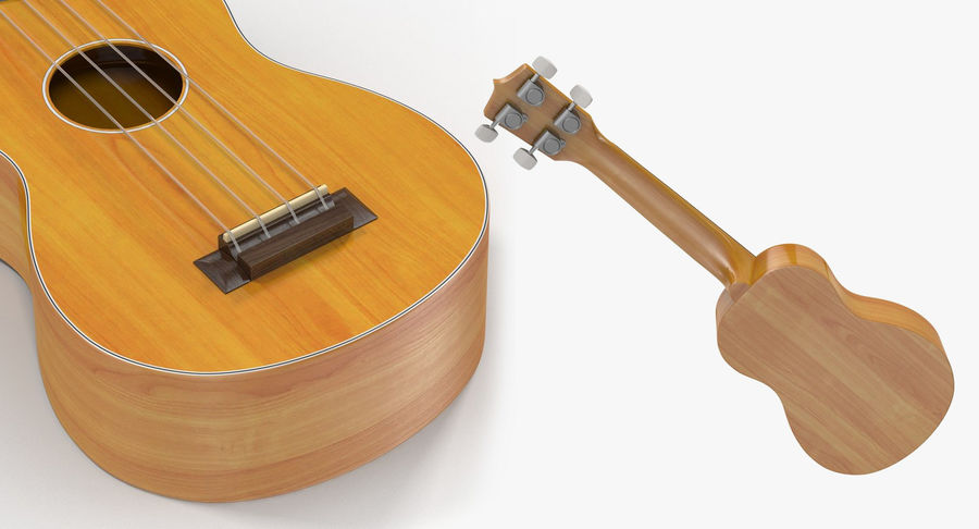 Guitars Collection 2 royalty-free 3d model - Preview no. 16