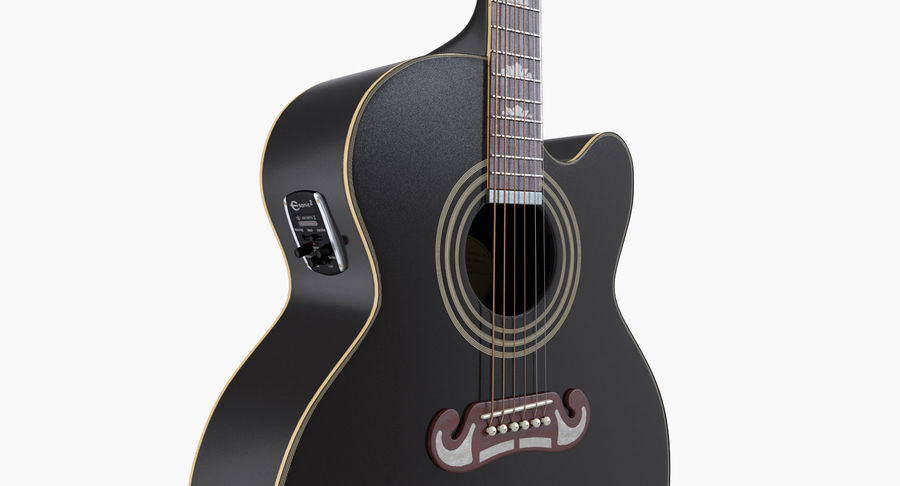 Guitars Collection 2 royalty-free 3d model - Preview no. 6