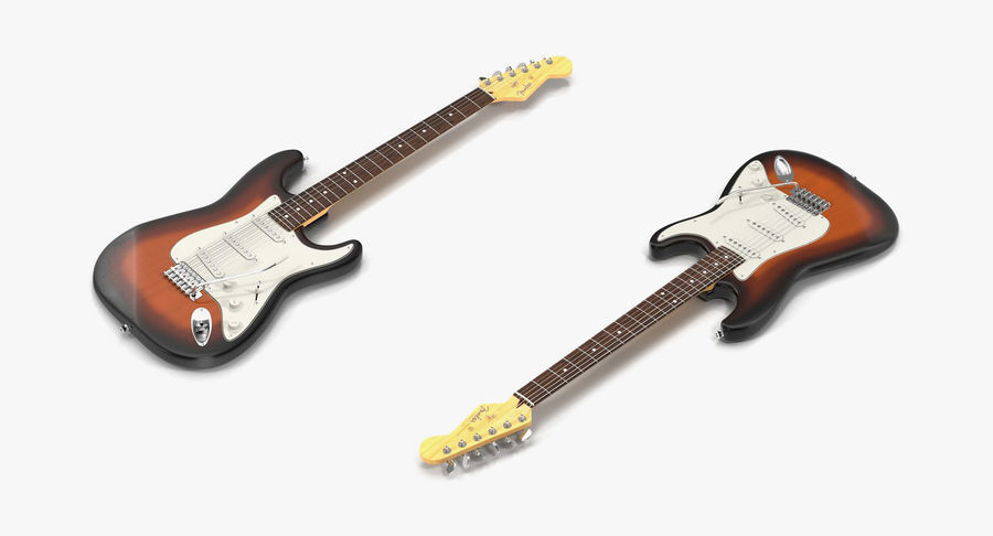 Guitars Collection 2 royalty-free 3d model - Preview no. 12