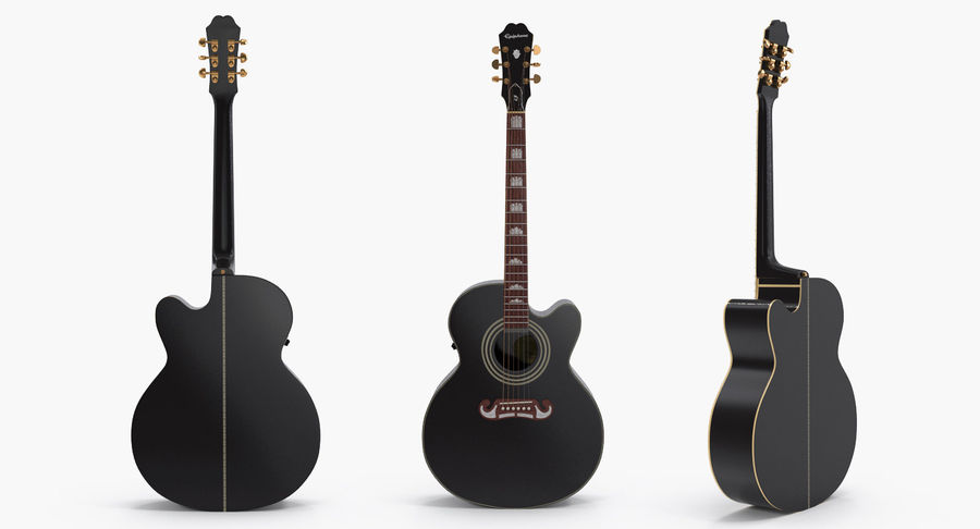 Guitars Collection 2 royalty-free 3d model - Preview no. 4