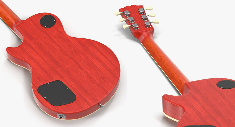 Guitars Collection 2 royalty-free 3d model - Preview no. 11