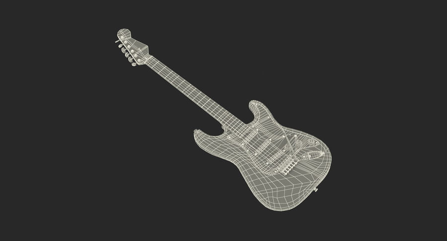 Guitars Collection 2 royalty-free 3d model - Preview no. 20