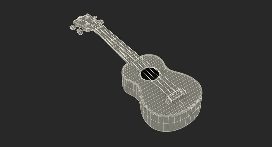 Guitars Collection 2 royalty-free 3d model - Preview no. 21