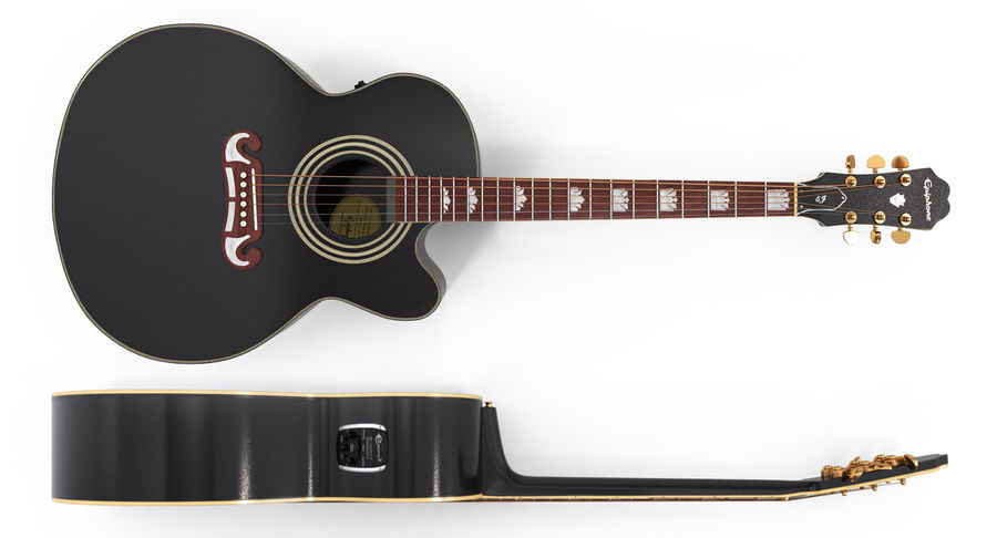 Guitars Collection 2 royalty-free 3d model - Preview no. 5