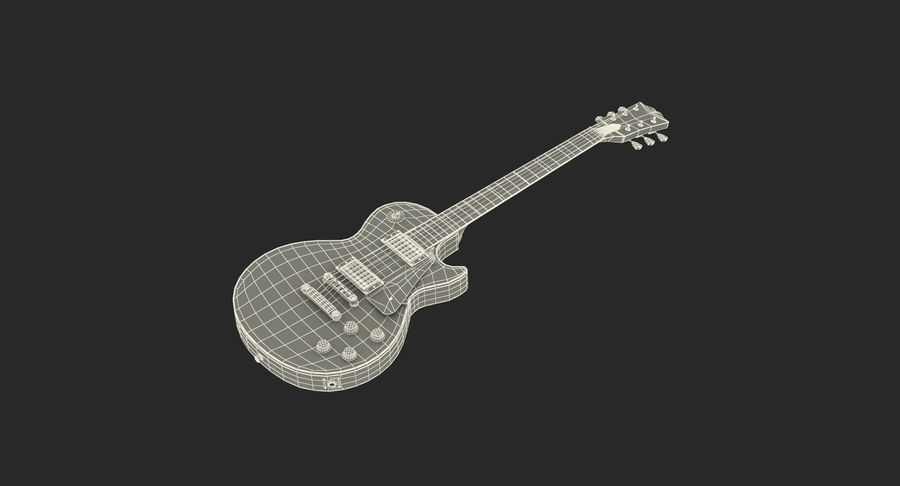 Guitars Collection 2 royalty-free 3d model - Preview no. 19