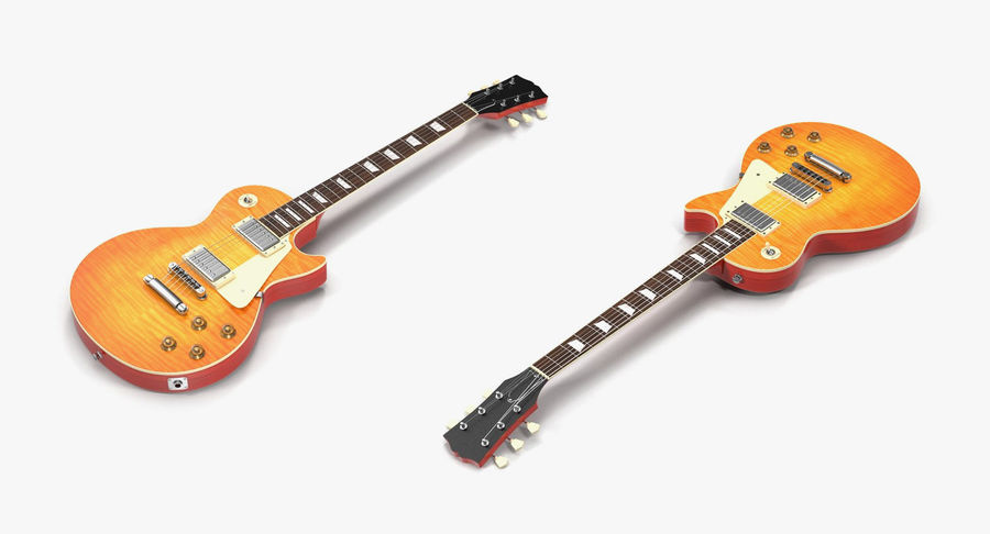 Guitars Collection 2 royalty-free 3d model - Preview no. 9