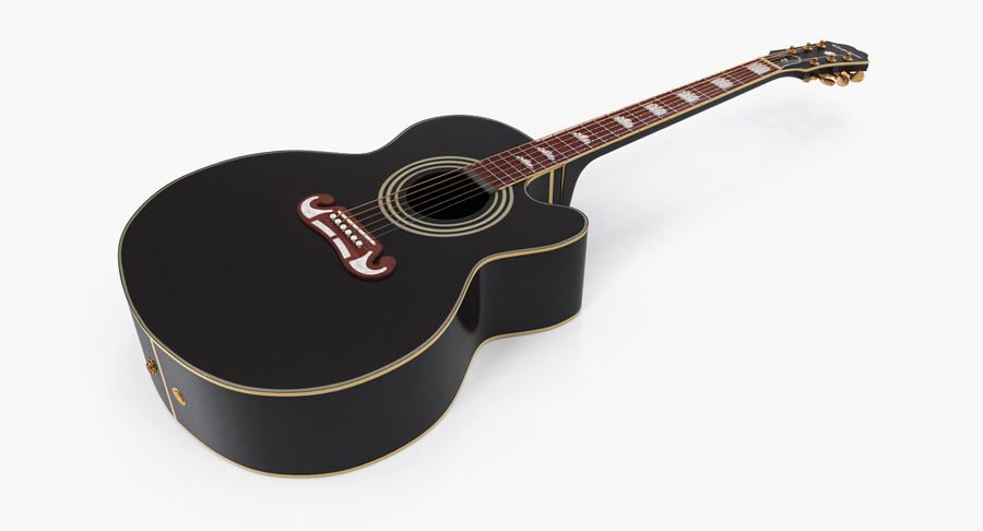 Guitars Collection 2 royalty-free 3d model - Preview no. 3
