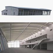 Edificio de concesionario de automóviles modelo 3d