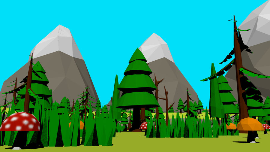 Forest Low Poly Assets royalty-free 3d model - Preview no. 3