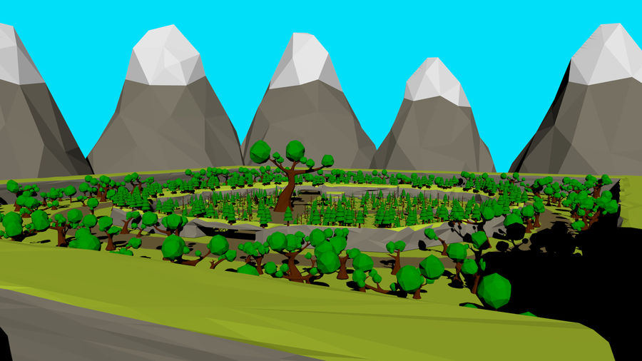 Forest Low Poly Assets royalty-free 3d model - Preview no. 5