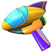 Cartoon Jet Low Poly 3d model
