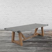 コンテンポラリー食卓テーブル 3d model