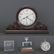 4 horloges de table 3d model