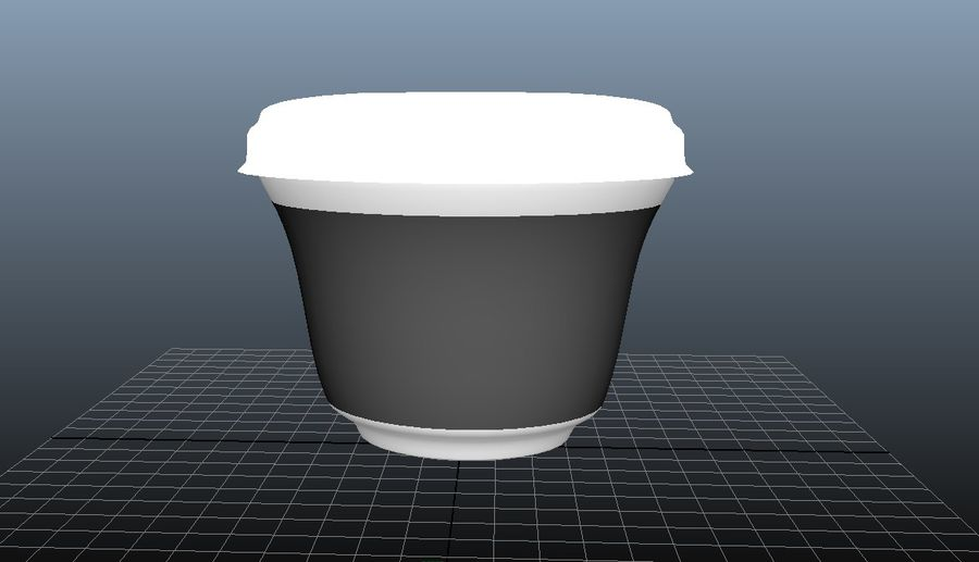 Yogurt packaging - vase with lid and aluminum foil royalty-free 3d model - Preview no. 4