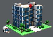 Здание больницы 3d model
