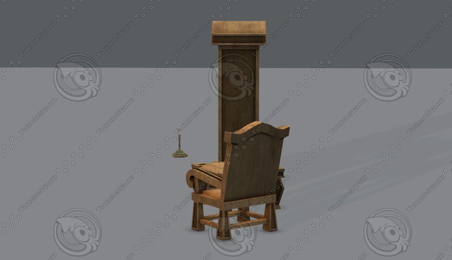 Juego de muebles para juego royalty-free modelo 3d - Preview no. 10