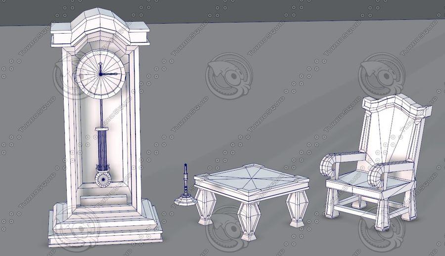 Juego de muebles para juego royalty-free modelo 3d - Preview no. 3