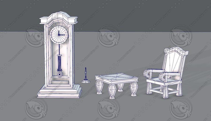 Juego de muebles para juego royalty-free modelo 3d - Preview no. 12