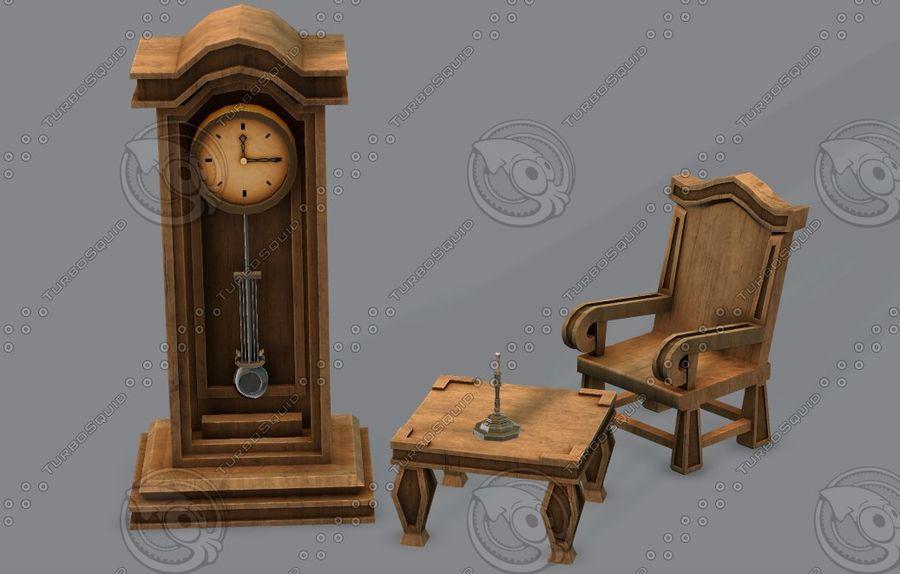 Juego de muebles para juego royalty-free modelo 3d - Preview no. 40