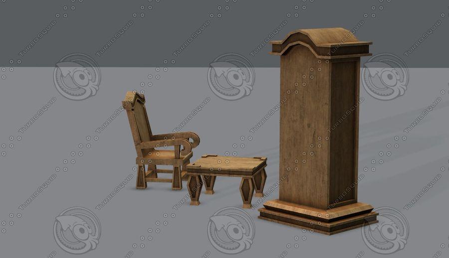 Juego de muebles para juego royalty-free modelo 3d - Preview no. 7