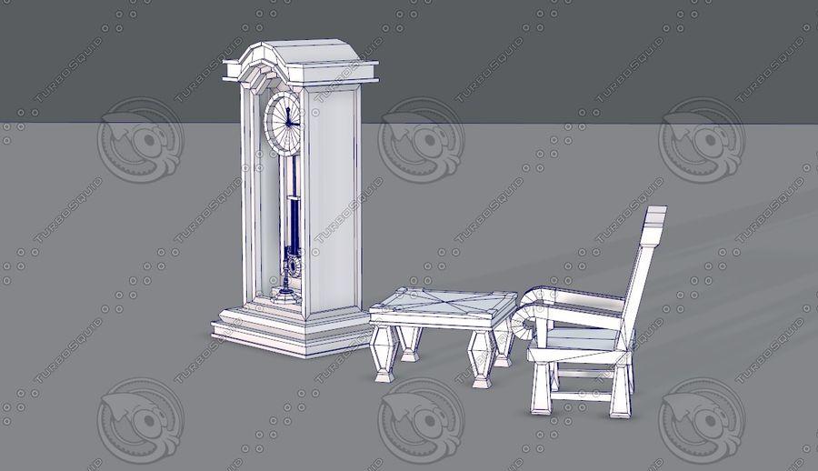 Juego de muebles para juego royalty-free modelo 3d - Preview no. 19