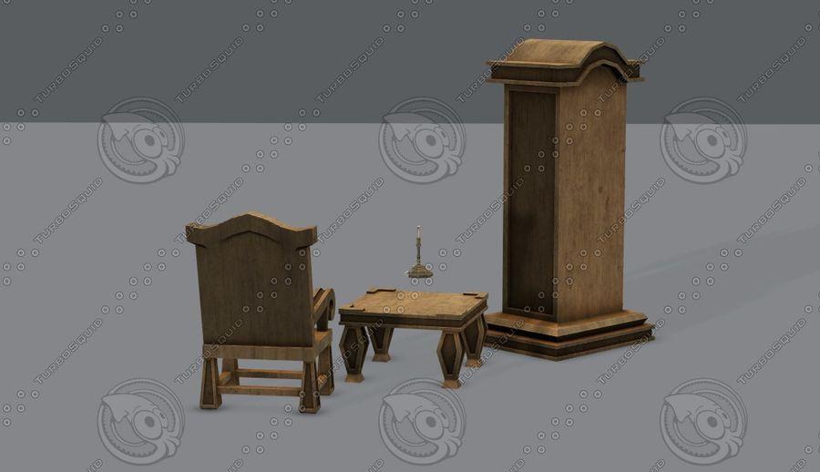 Juego de muebles para juego royalty-free modelo 3d - Preview no. 9