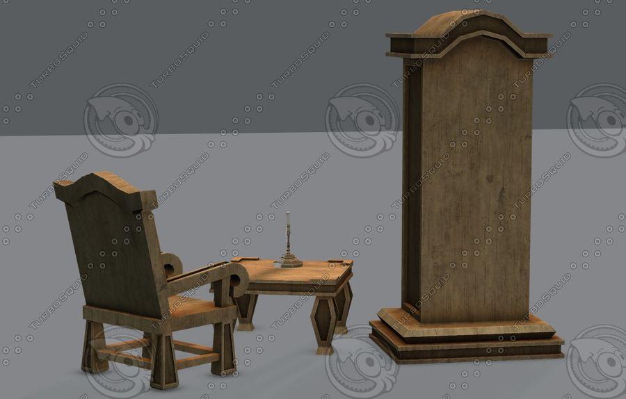 Juego de muebles para juego royalty-free modelo 3d - Preview no. 42