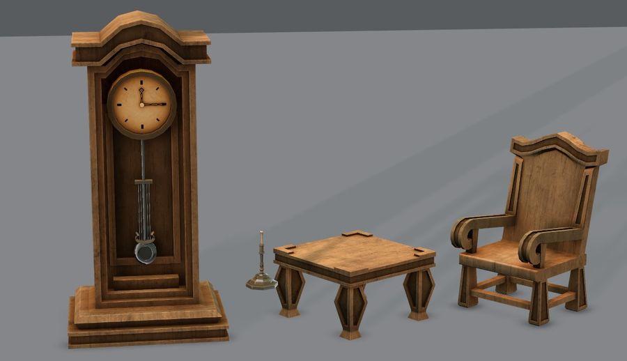 Juego de muebles para juego royalty-free modelo 3d - Preview no. 1