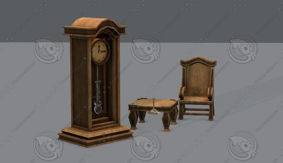 Juego de muebles para juego royalty-free modelo 3d - Preview no. 5