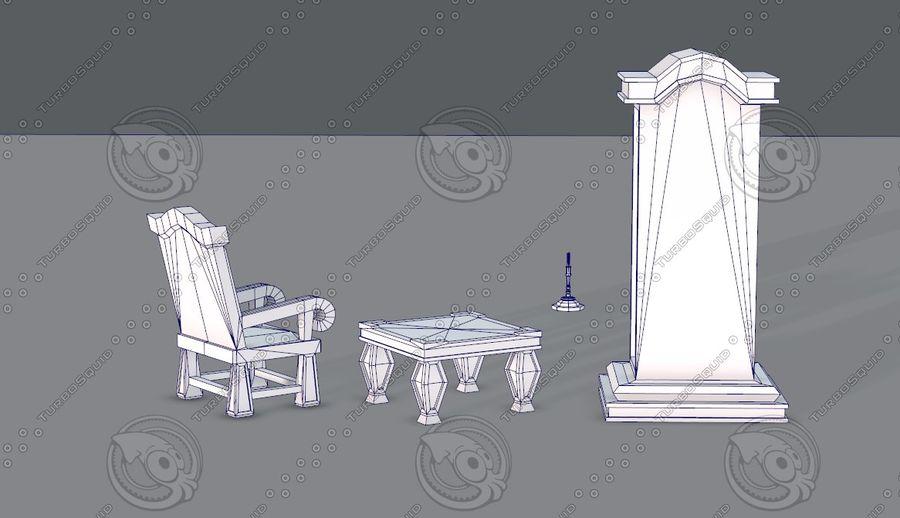 Juego de muebles para juego royalty-free modelo 3d - Preview no. 16