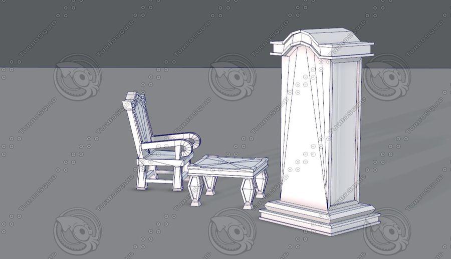 Juego de muebles para juego royalty-free modelo 3d - Preview no. 15