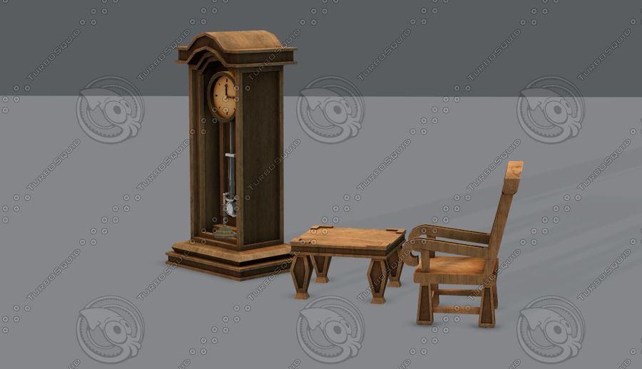 Juego de muebles para juego royalty-free modelo 3d - Preview no. 11