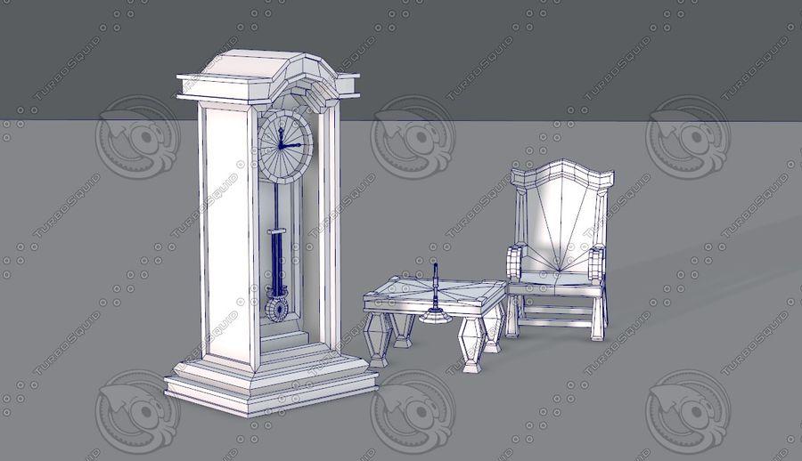 Juego de muebles para juego royalty-free modelo 3d - Preview no. 13