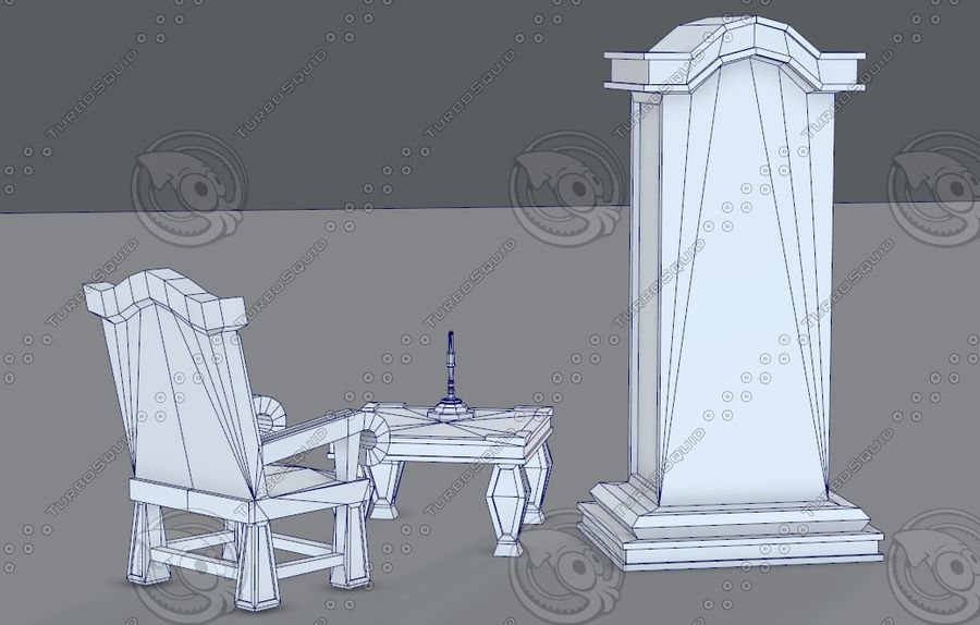 Juego de muebles para juego royalty-free modelo 3d - Preview no. 43