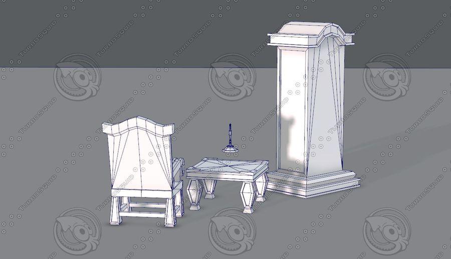 Juego de muebles para juego royalty-free modelo 3d - Preview no. 17