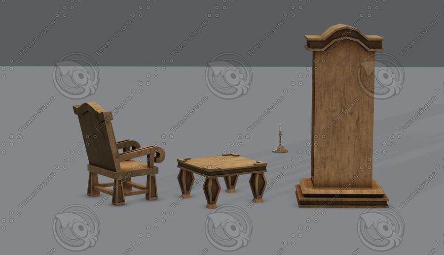 Juego de muebles para juego royalty-free modelo 3d - Preview no. 8