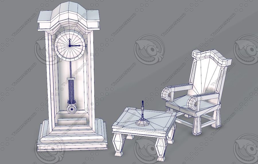 Juego de muebles para juego royalty-free modelo 3d - Preview no. 41