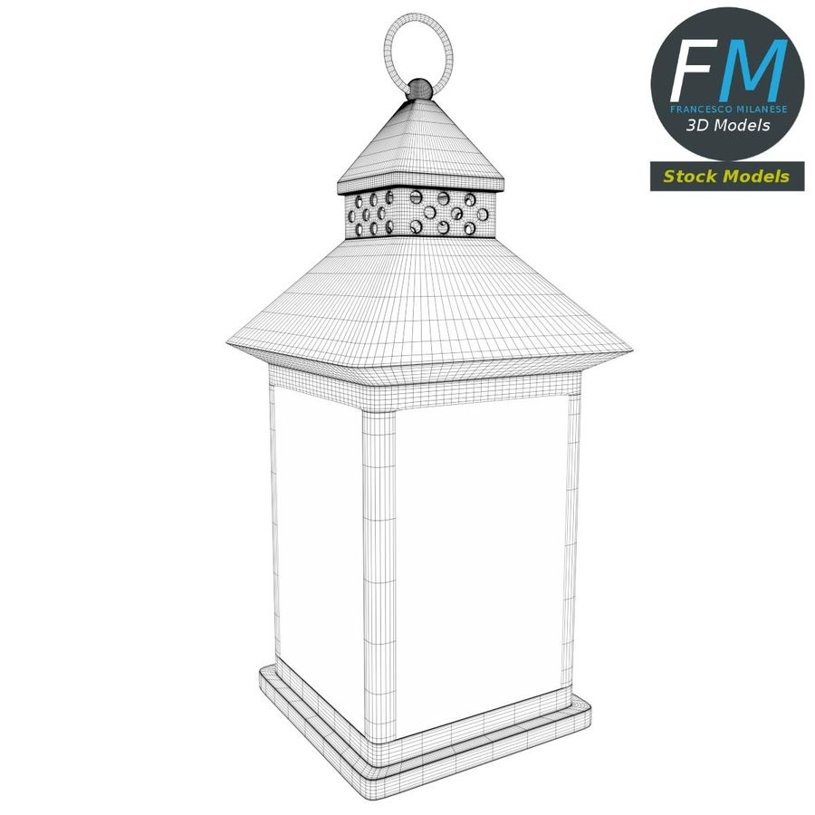 Lantern with Candle 1 royalty-free 3d model - Preview no. 8