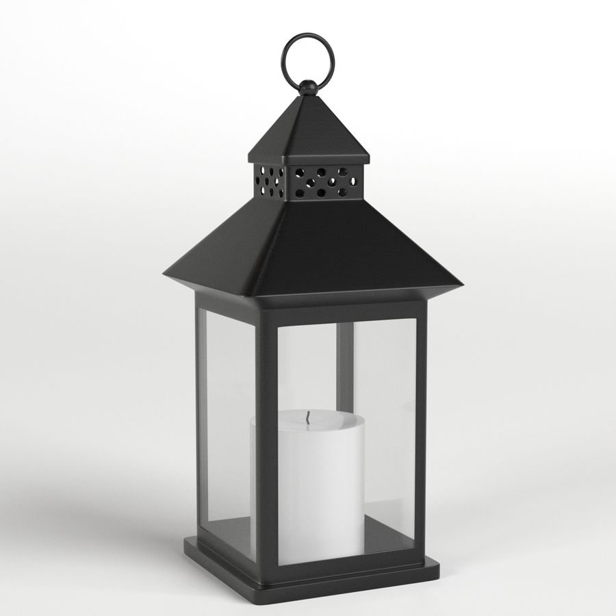 Lantern with Candle 1 royalty-free 3d model - Preview no. 1