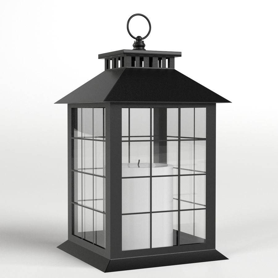 Lantern with Candle 2 royalty-free 3d model - Preview no. 1