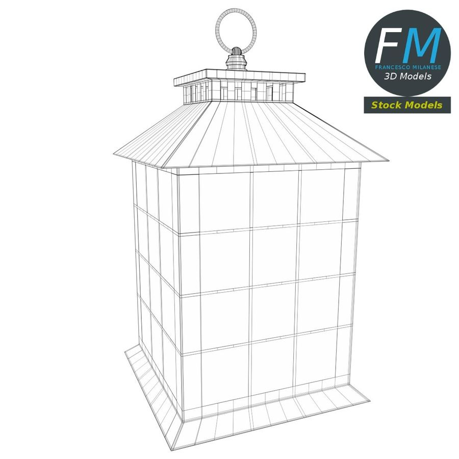 Lantern with Candle 2 royalty-free 3d model - Preview no. 8
