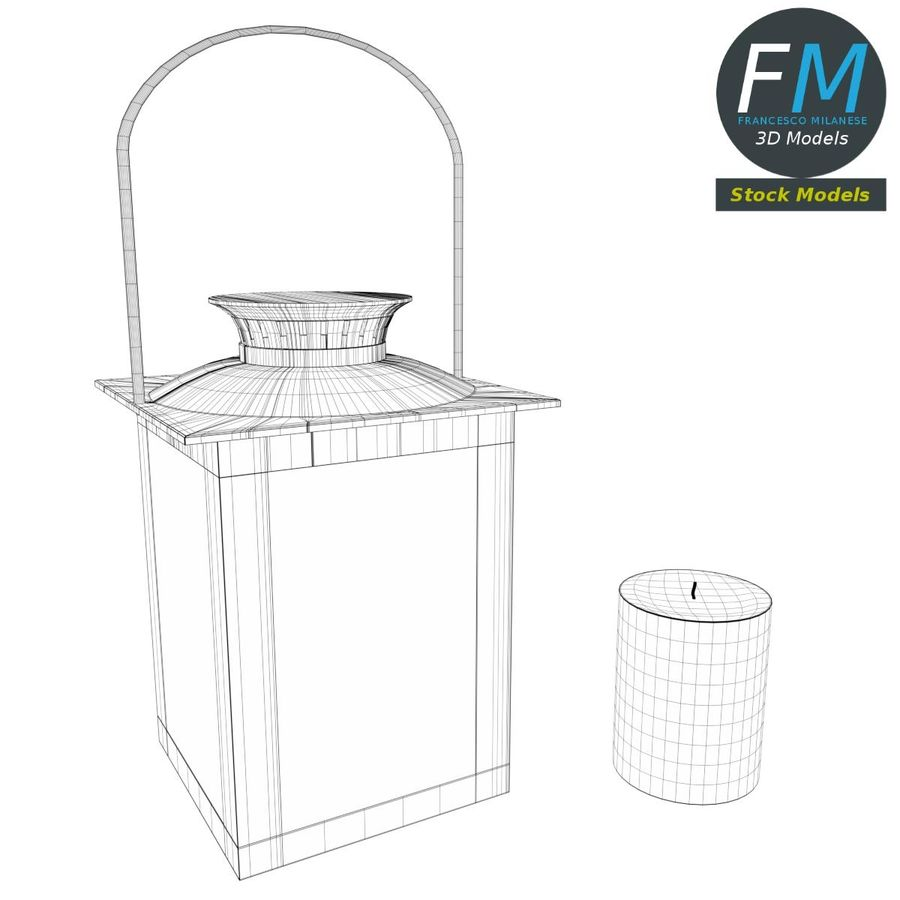 Lantern with Candle 3 royalty-free 3d model - Preview no. 9