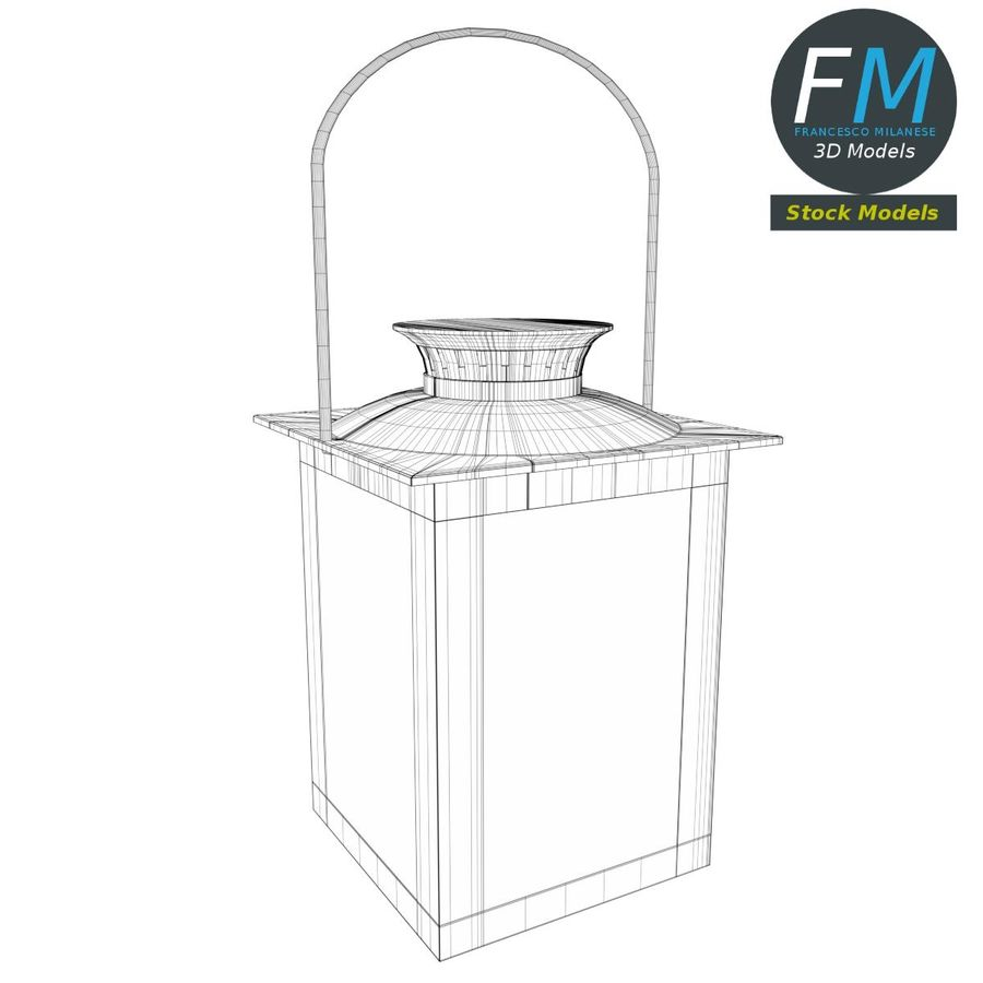 Lantern with Candle 3 royalty-free 3d model - Preview no. 8