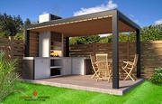 屋外キッチン3D家具 3d model