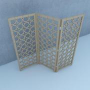 传统的摩洛哥木屏风 3d model