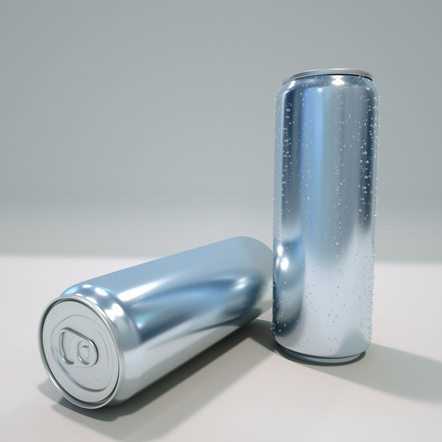 aluminum can royalty-free 3d model - Preview no. 1