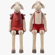 Dekoracyjne figurki owiec 3d model