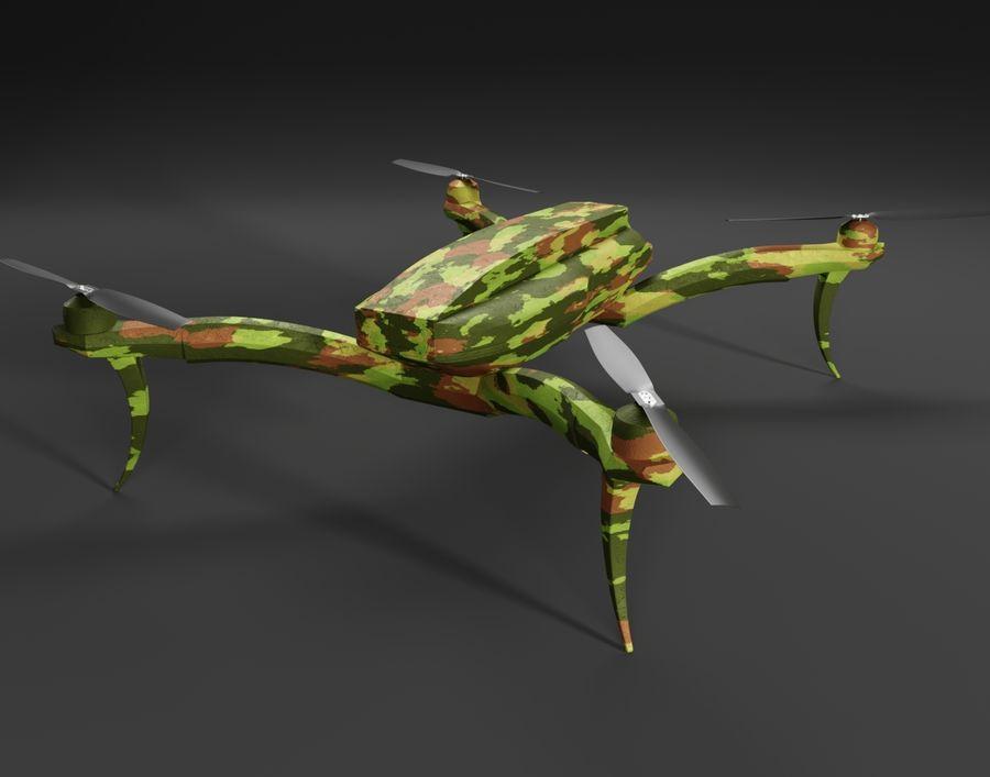 Quadrocopter Drone Kamuflajı royalty-free 3d model - Preview no. 2