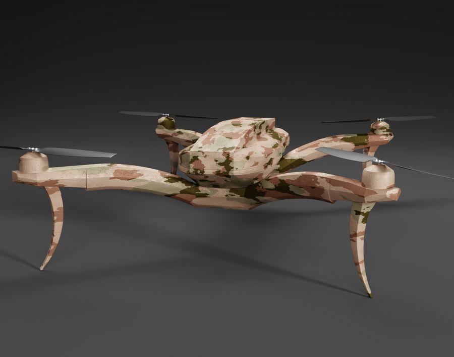 Quadrocopter Drone Kamuflajı royalty-free 3d model - Preview no. 1